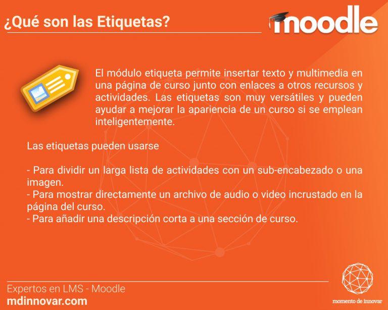 Etiquetas Moodle
