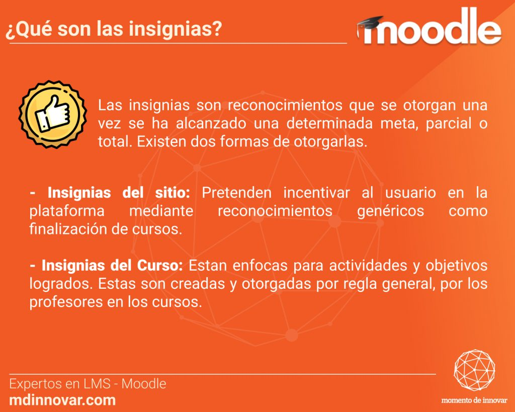 Insignias Moodle