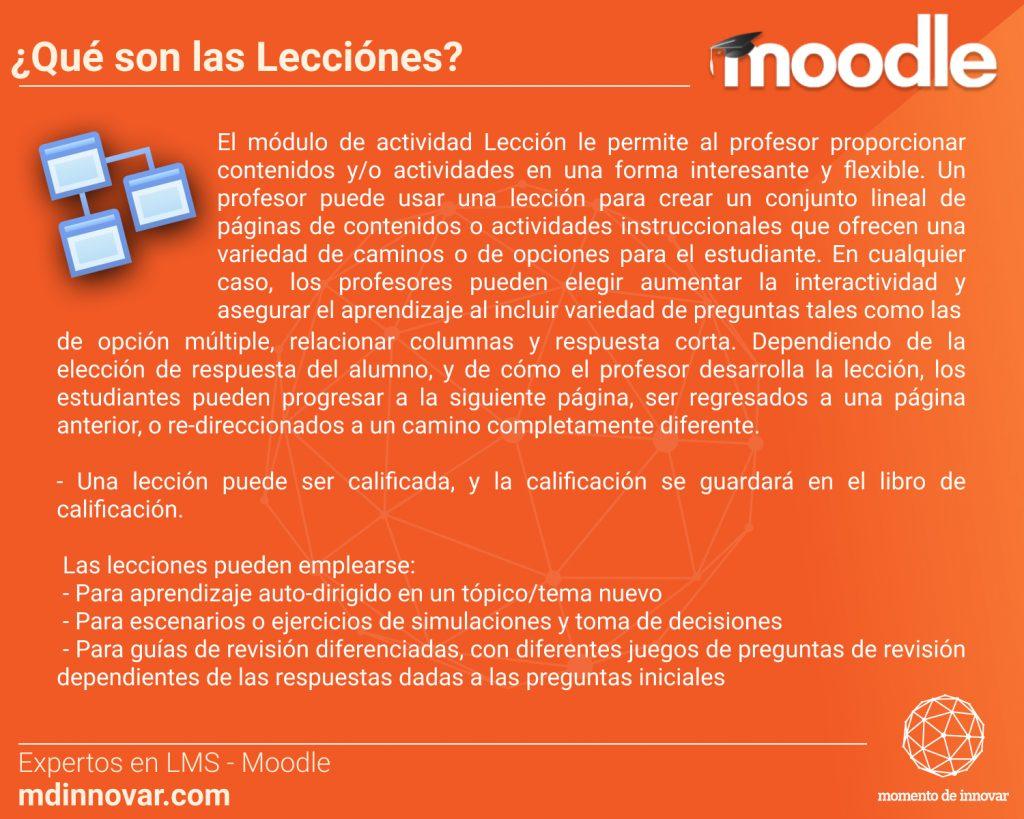 Lecciones Moodle