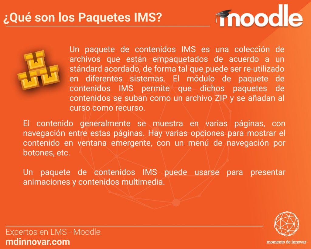 Paquetes IMS Moodle